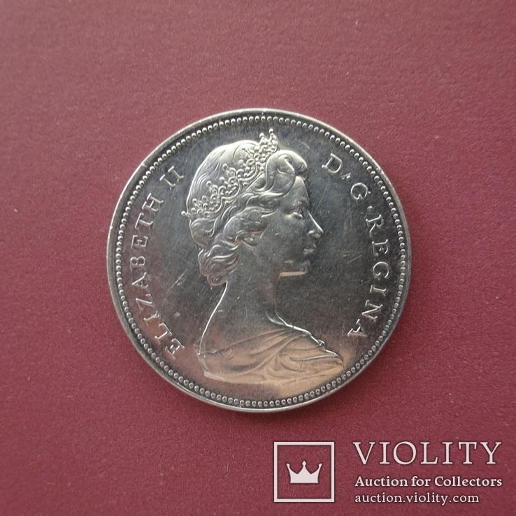 Канада, 1 доллар, 1966 год,, фото №2