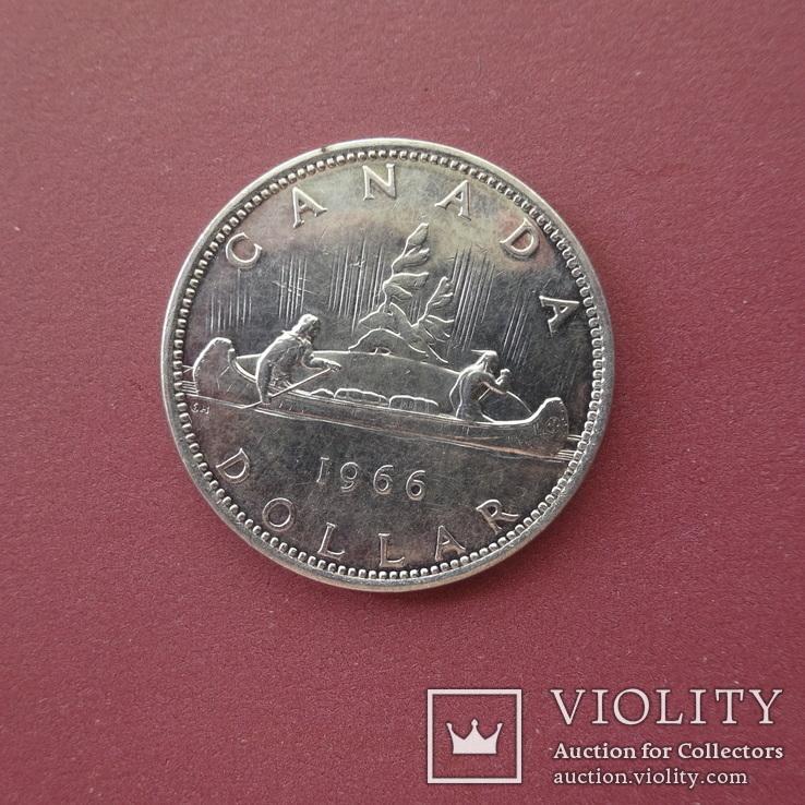 Канада, 1 доллар, 1966 год,, фото №3