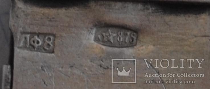 Браслет серебняный,часовой - 875 звезда , 27.7грамм., фото №10