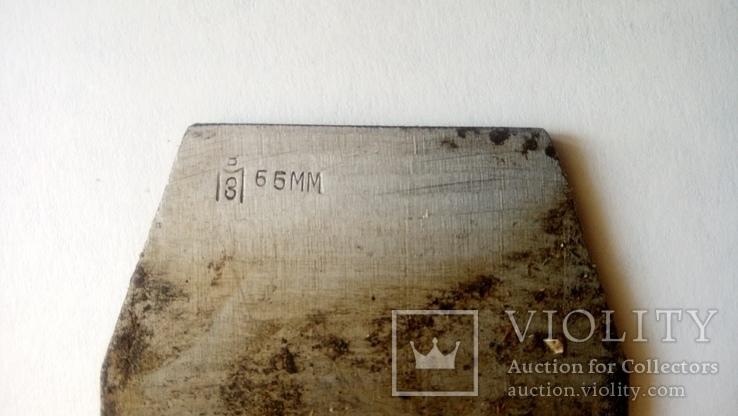 Лезвие фуганка советское новое Ширина 65 мм в смазке, фото №4