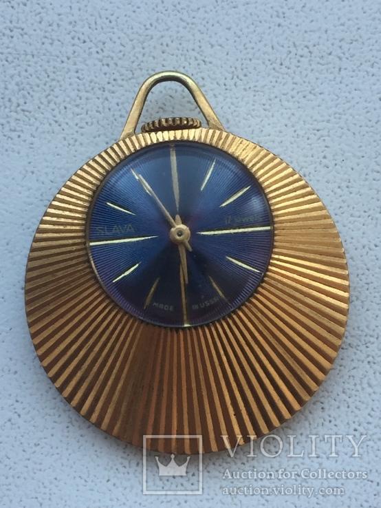 Часы Слава кулон