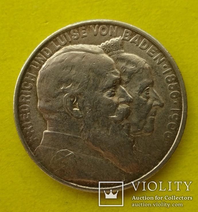 2 марки. Баден. 1906 год., фото №2