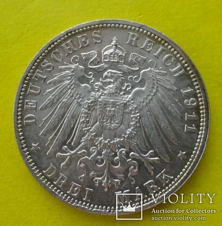 3 марки. Бавария. 1911 год., фото №3