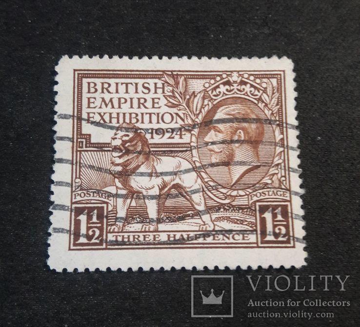 Марка Великобритании 1924 года, фото №2