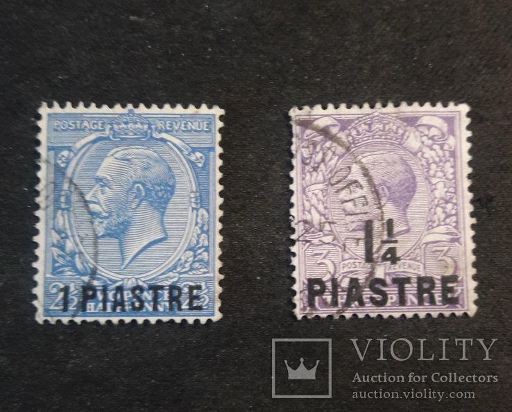 Марки Британской почты в Турецкой Империи 1913 гг., фото №2