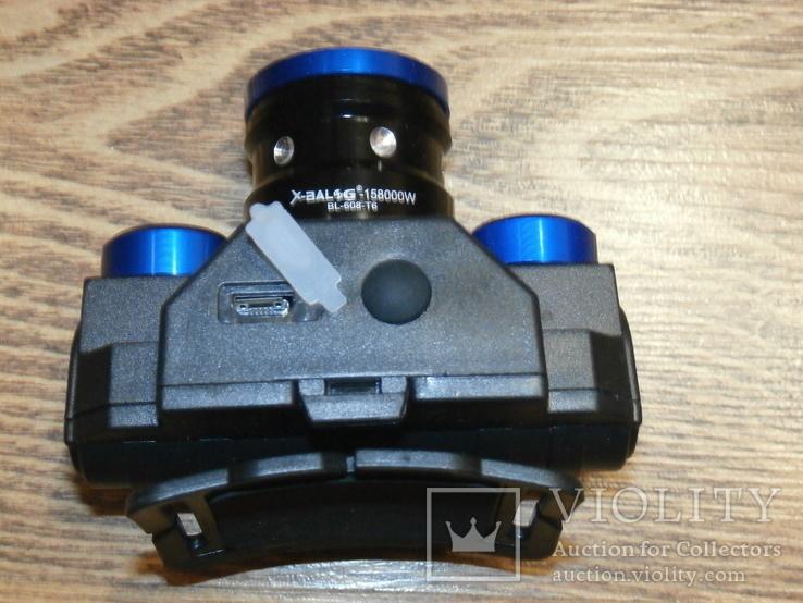 Аккумуляторный Налобный фонарик Police BL-608-T6,Диод CREE-T6,акк. 18650, фото №4
