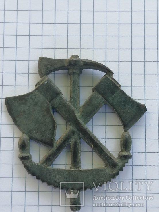 Спец знак на польові пагони офіцерів та унтер-офіцерів осілих інженерних парків