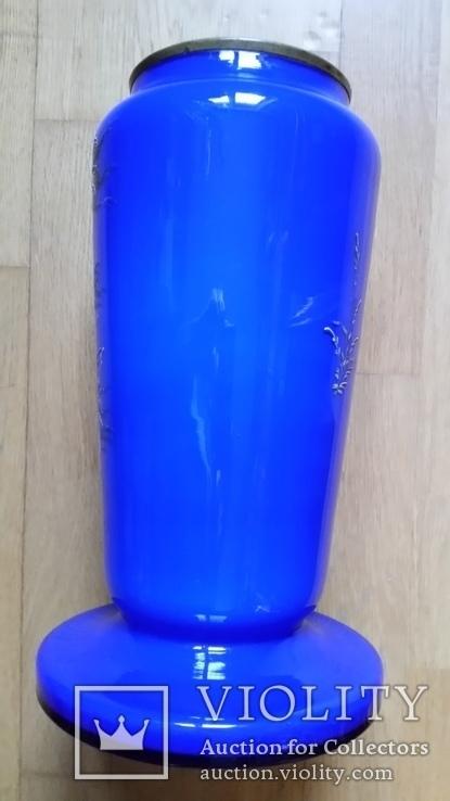 Ваза, скло розписне, 32 см, фото №4