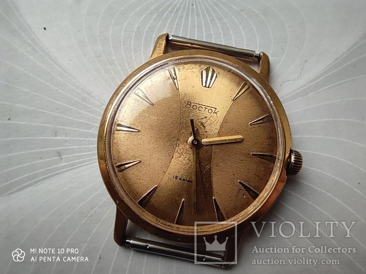 Часы Восток позолота Au20, фото №3