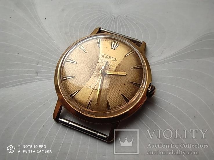 Часы Восток позолота Au20, фото №4