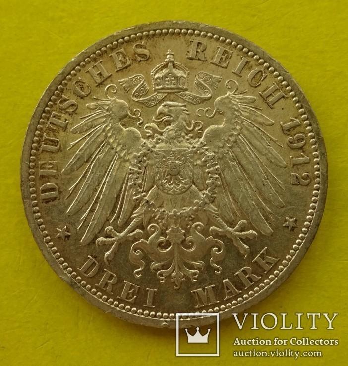 3 марки, Пруссия, 1912 год., фото №3