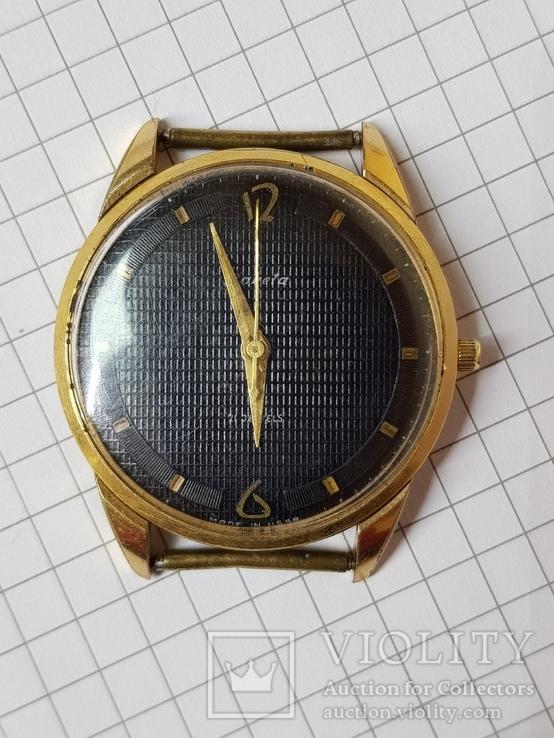 Часы Ракета черный циферблат AU20 рабочие, фото №11