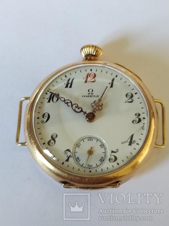 Старинные золотые часы Оmega. На ходу, фото №4