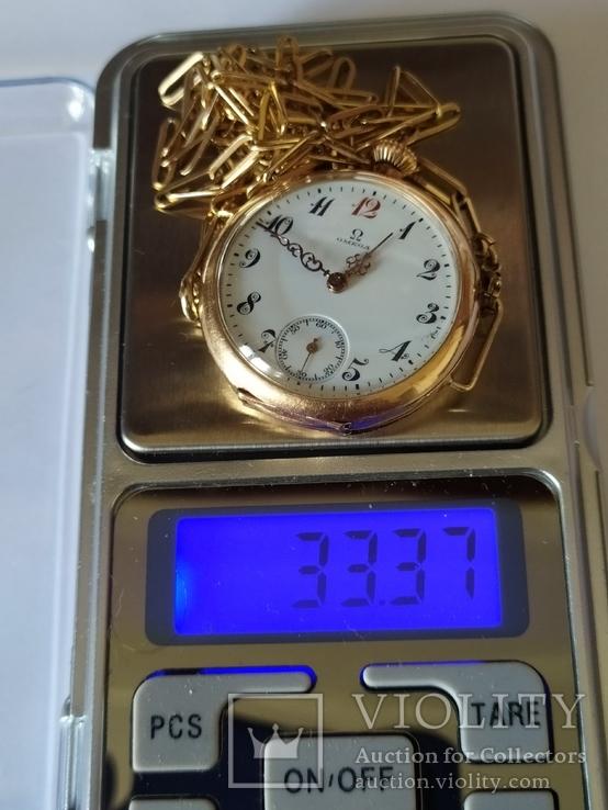 Старинные золотые часы Оmega. На ходу, фото №7