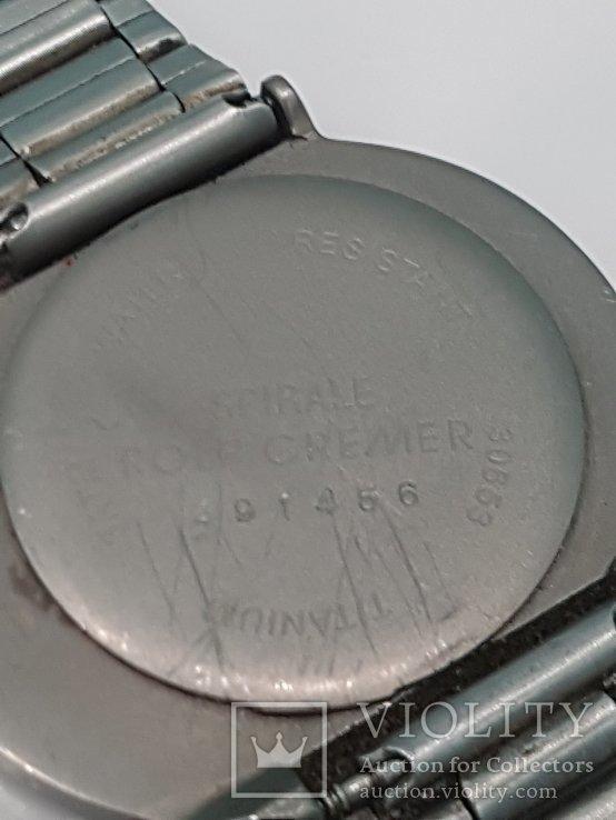 Рольф Кремер  Часы - спираль - титан - под старину, фото №4