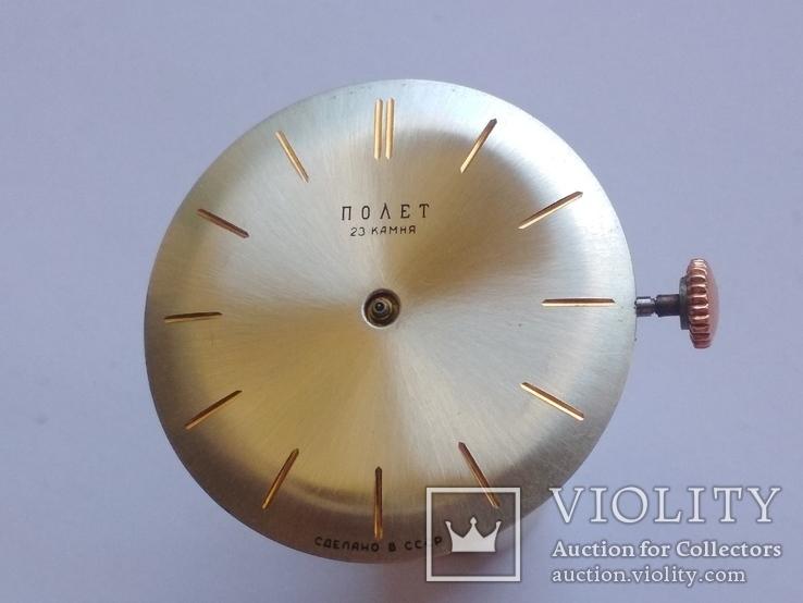 Оригинальный циферблат, механизм на золотые Полет 1МЧЗ, фото №8