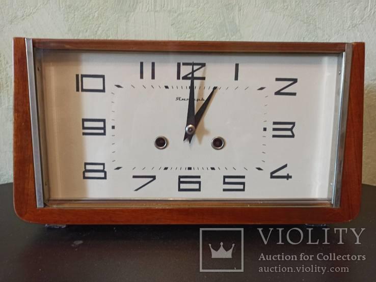 Часы Янтарь настольные с боем. На ходу., фото №2