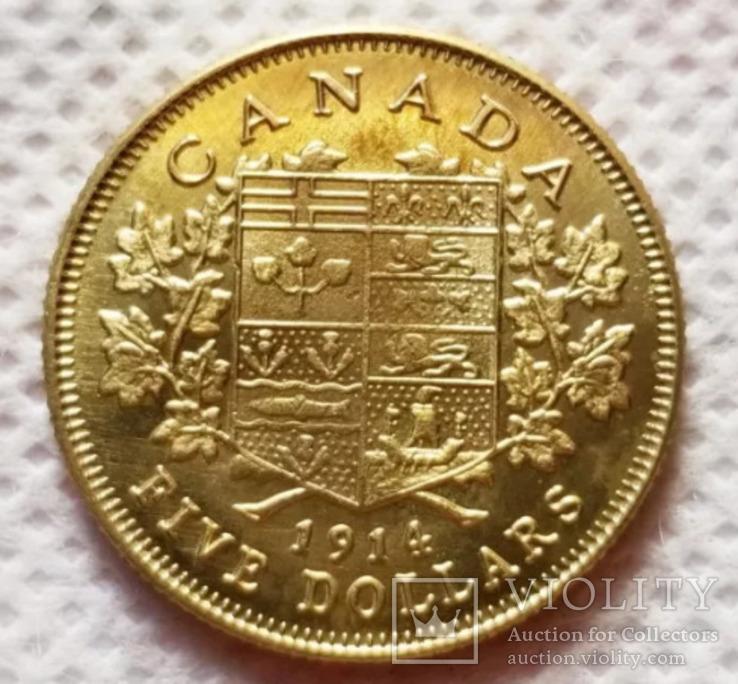 5 долларов 1914 год канада копия, фото №3