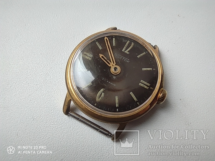 Часы Восток 22камня (прецизионные). позолота Au20, фото №5