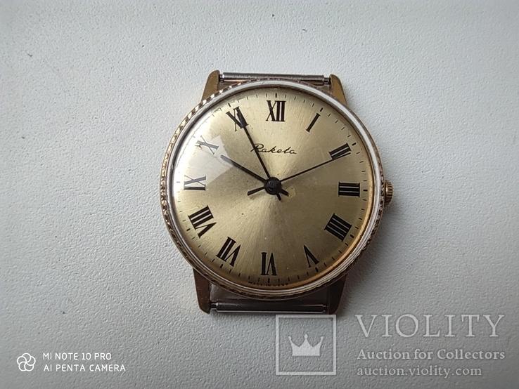 Часы Ракета  позолота Au5, фото №4