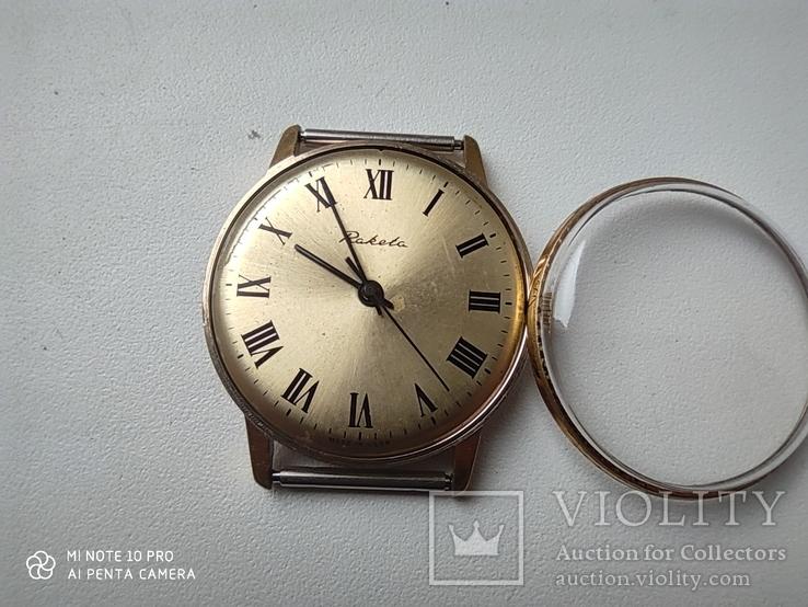 Часы Ракета  позолота Au5, фото №5