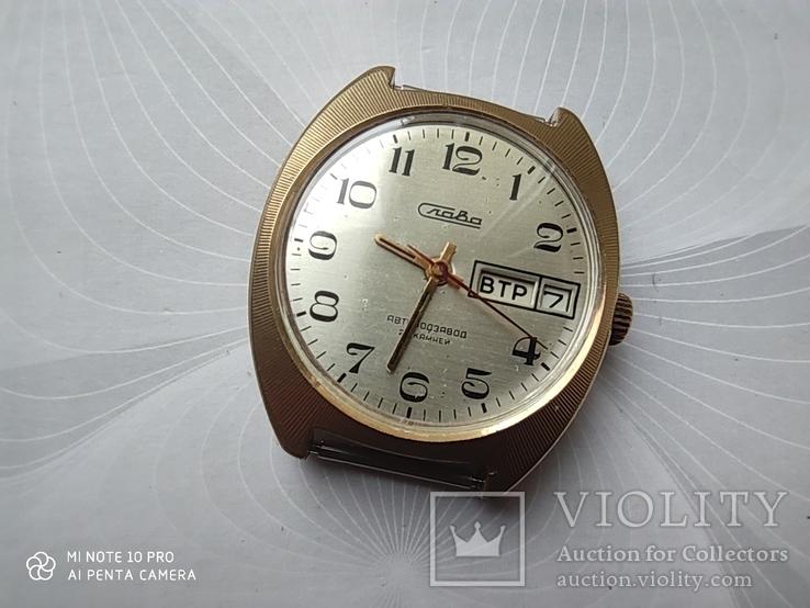 Часы Слава автоподзавод . позолота Au10