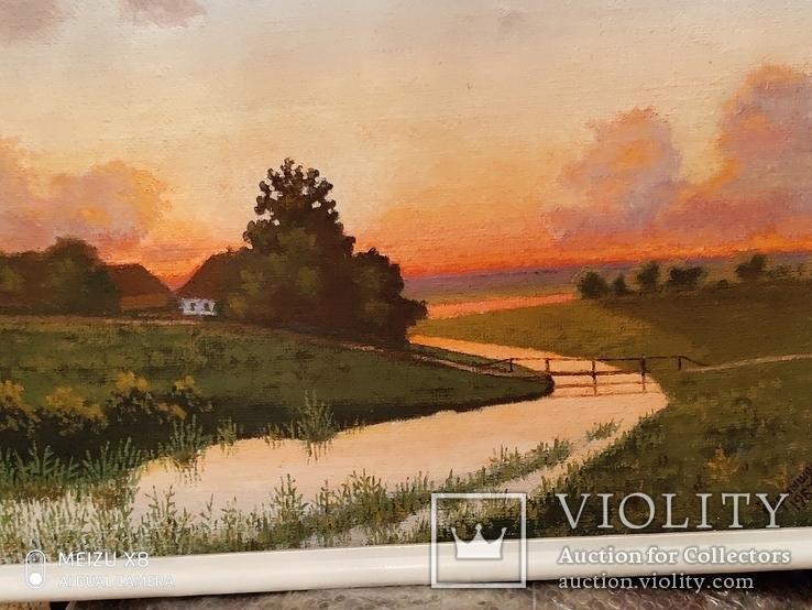 Картина в раме пейзаж,холст,масло автор Чернышенко, фото №8