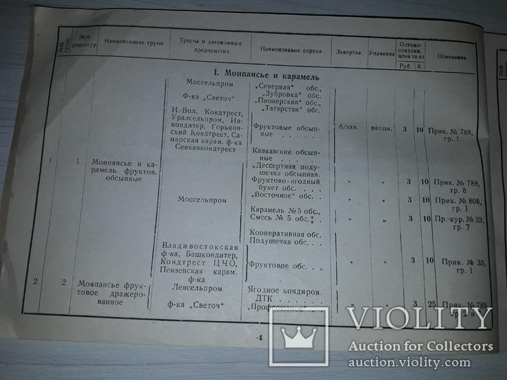 Кондитерские изделия  НАРКОМСНАБА РСФСР 1934, фото №4