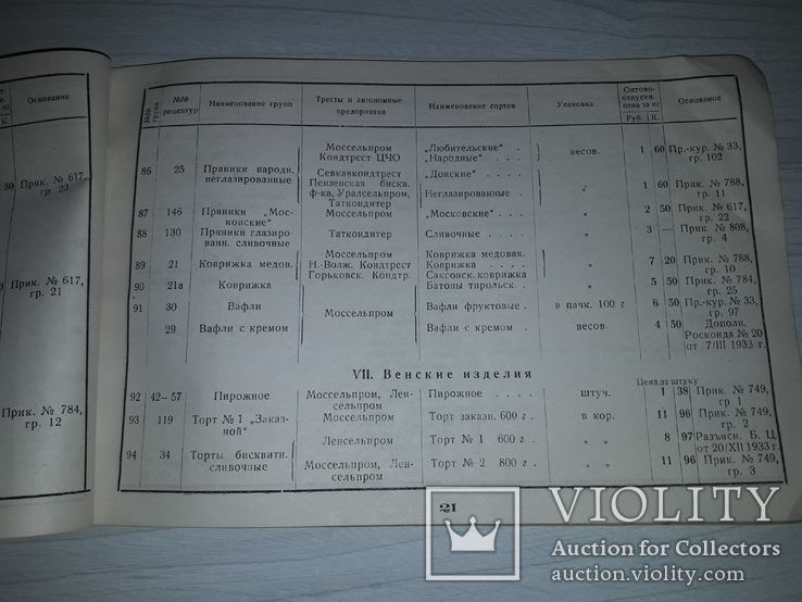 Кондитерские изделия  НАРКОМСНАБА РСФСР 1934, фото №8