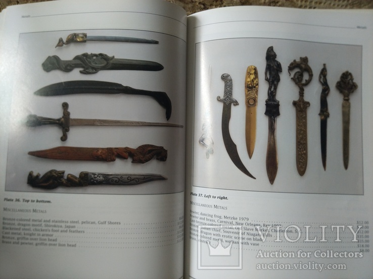 Ножи для бумаг. Каталог с ценами. Collector's Guide to Letter Openers, фото №6