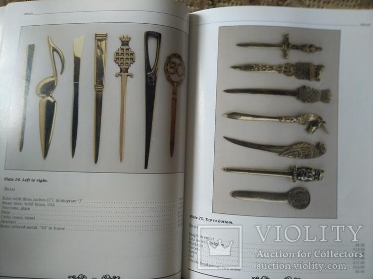 Ножи для бумаг. Каталог с ценами. Collector's Guide to Letter Openers, фото №7