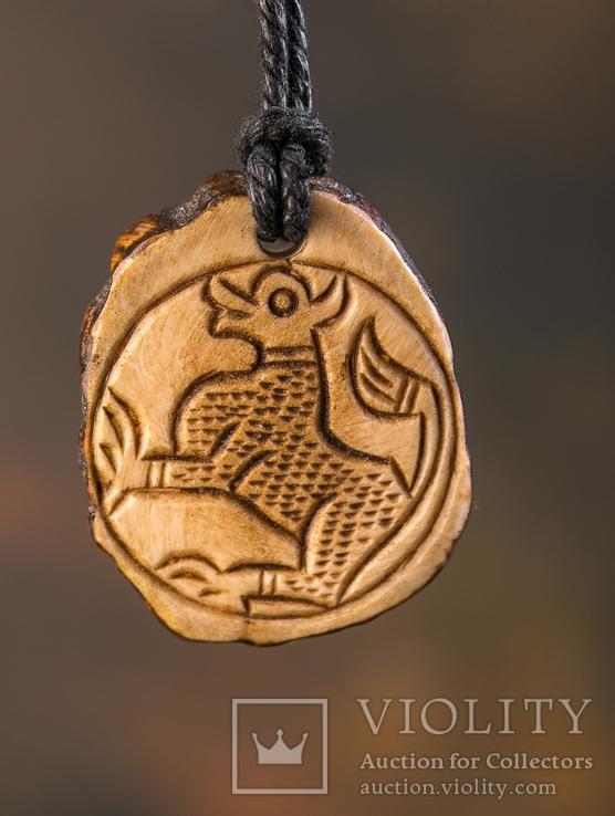 Підвіска амулет з кості ,,Лютий звір,,, фото №9