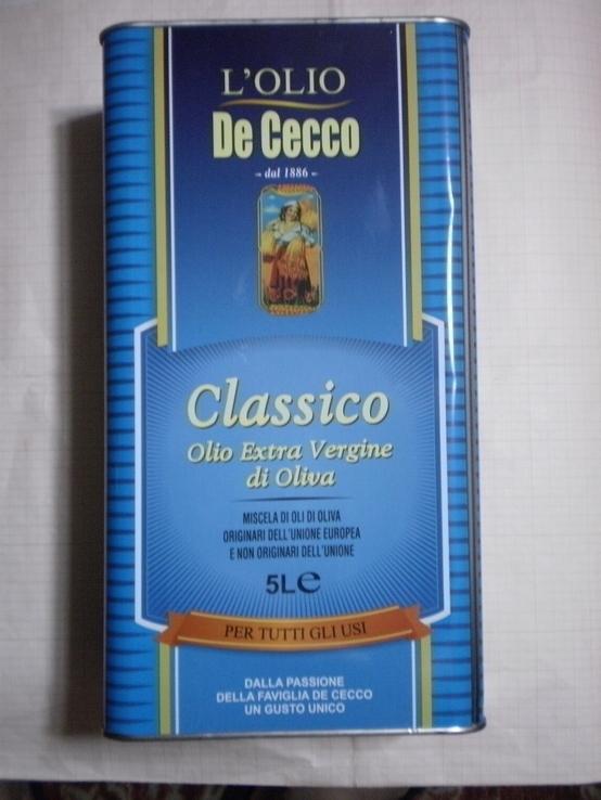 """Оливковое масло """"De Cecco"""" Италия 5л., фото №2"""