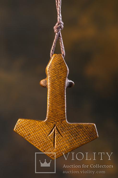 Амулет з кості ,,Молот тора,,, фото №10