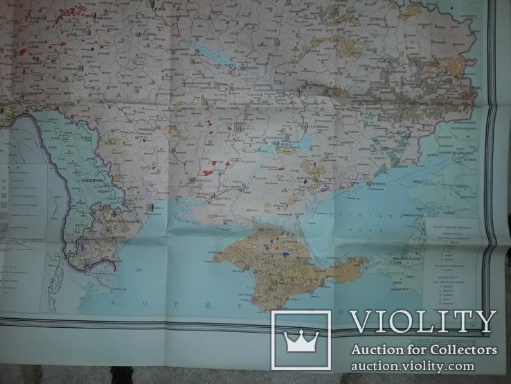 Карта етнічного складу населення України Київ 1966 В.І.Наулко, фото №12