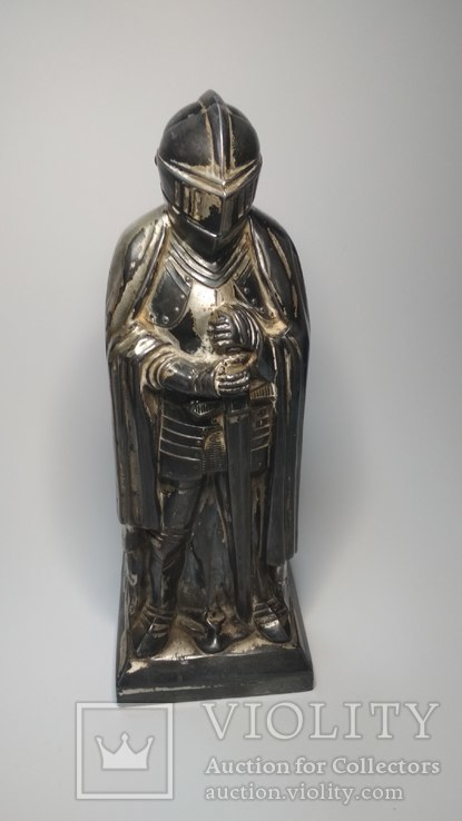 Старинная бензиновая зажигалка, рыцарь., фото №12