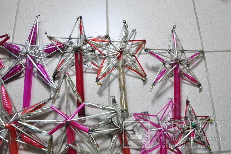 Елочные игрушки верхушки стеклярус СССР под ремонт, фото №4