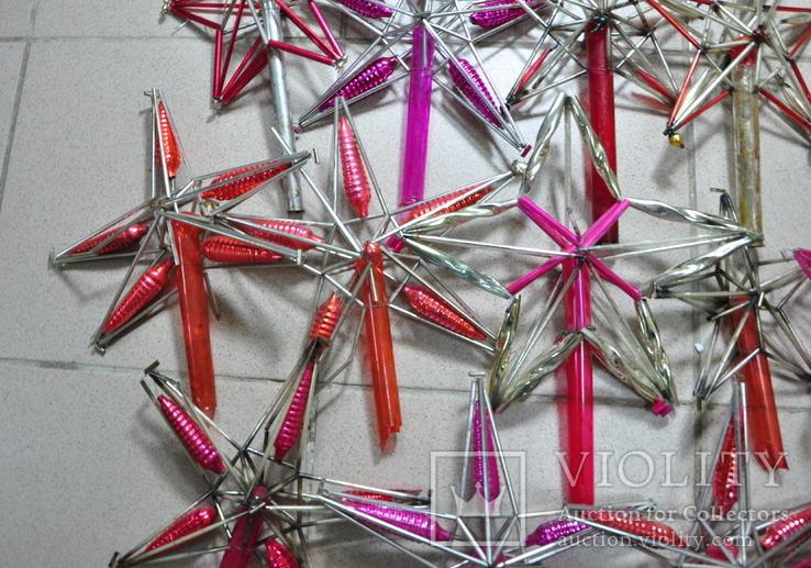 Елочные игрушки верхушки стеклярус СССР под ремонт, фото №6