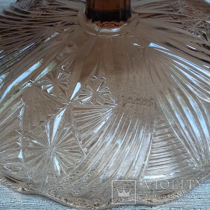 Ваза для фруктов ,цветное стекло Ф21 см, фото №7