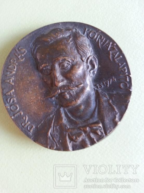 Настольная медаль, Венгрия, музей, археолог Йоса Андрош, фото №3