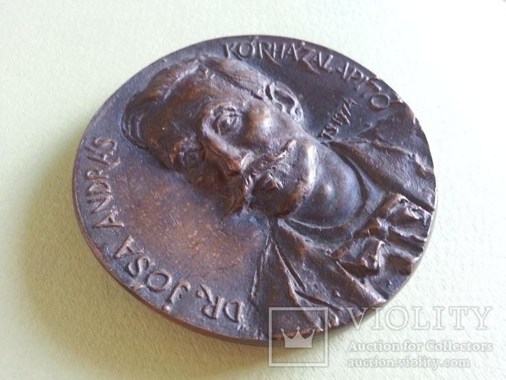 Настольная медаль, Венгрия, музей, археолог Йоса Андрош, фото №4