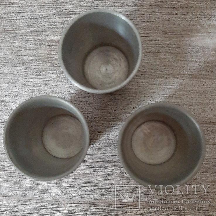 Коллекционные стопки из пищевого цинка,3 шт, Германия, фото №4