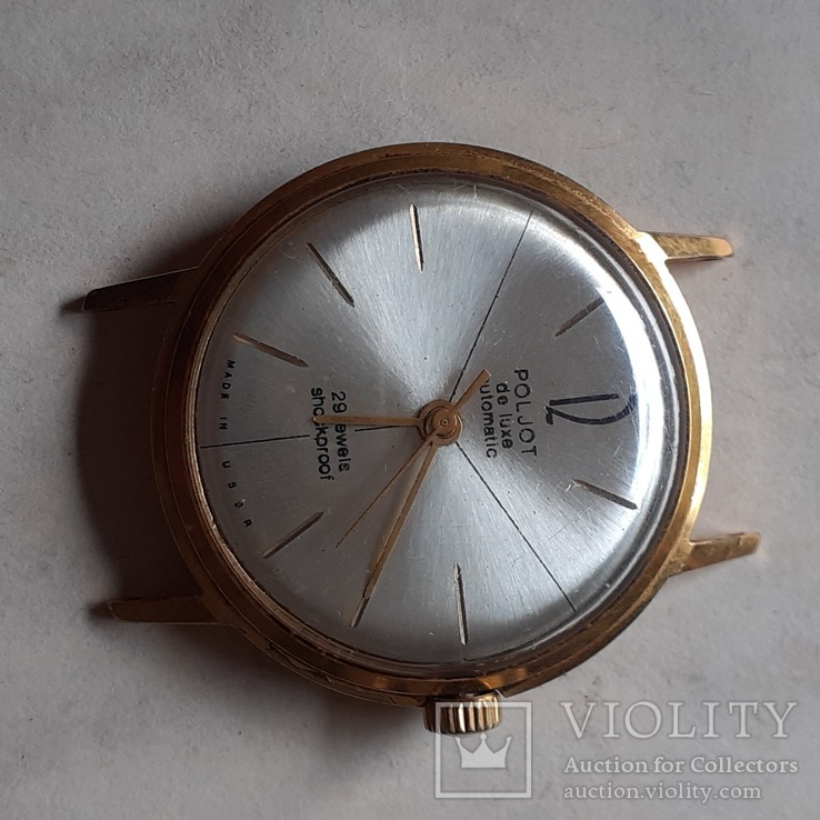 Часы Poljot de luxe au 20 automatic, фото №5