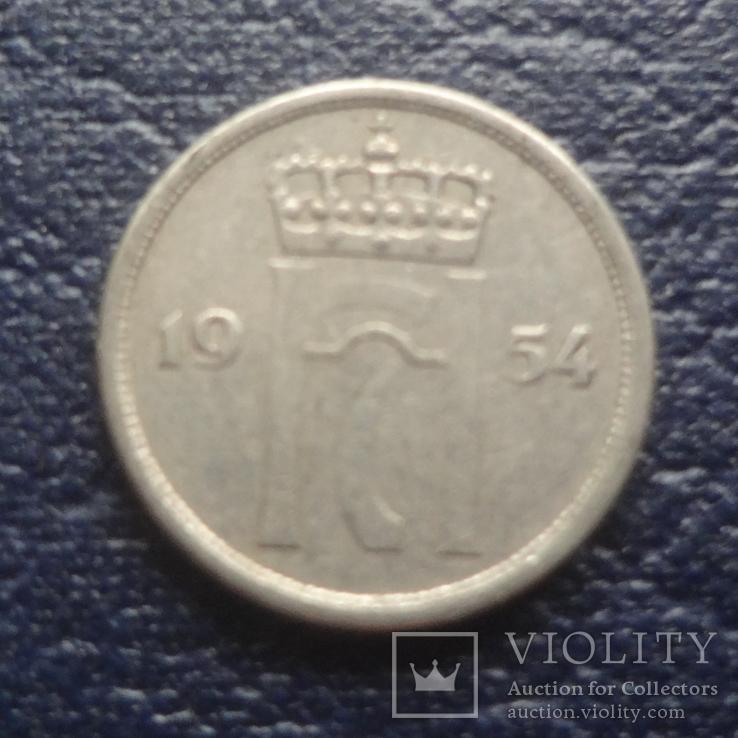 10  эре 1954  Норвегия    (Г.6.32)~, фото №3