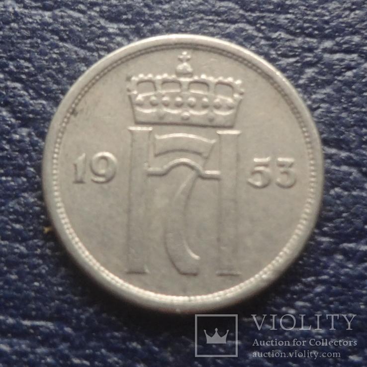 10  эре 1953  Норвегия    (Г.6.41)~, фото №3
