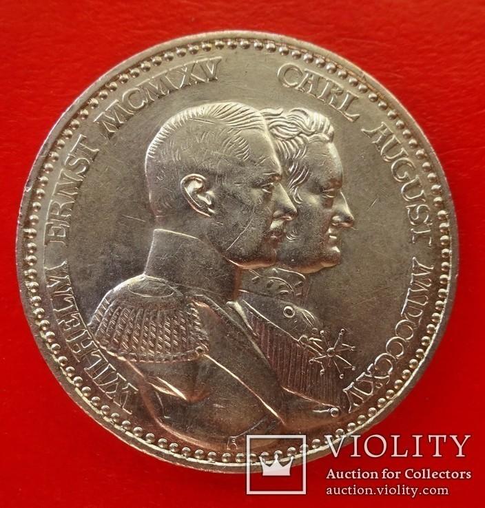 3 марки, Саксен-Веймар-Эйзенах (Германия), 1915 год, фото №2