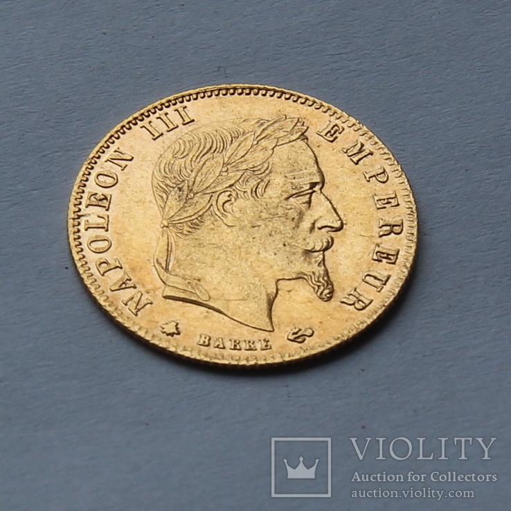 5 франков 1864 Франция. Золото. 1,6 г