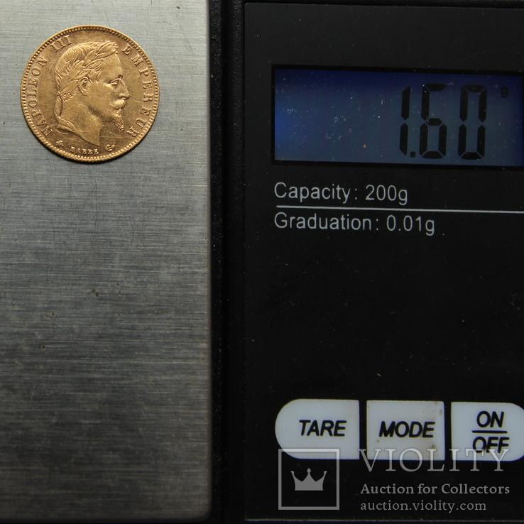 5 франков 1864 Франция. Золото. 1,6 г, фото №4
