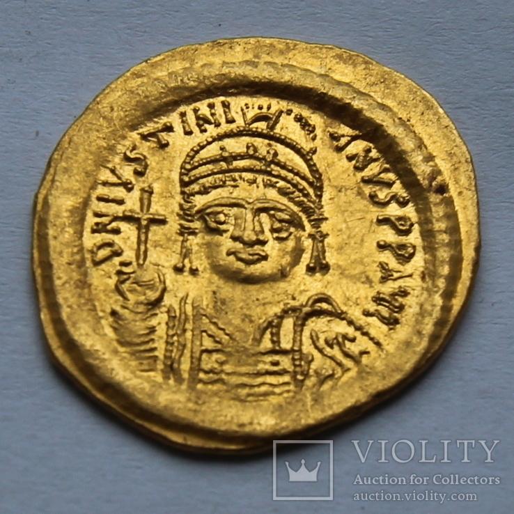 Солид Юстиниан Византия Константинополь золото. 4,49 г