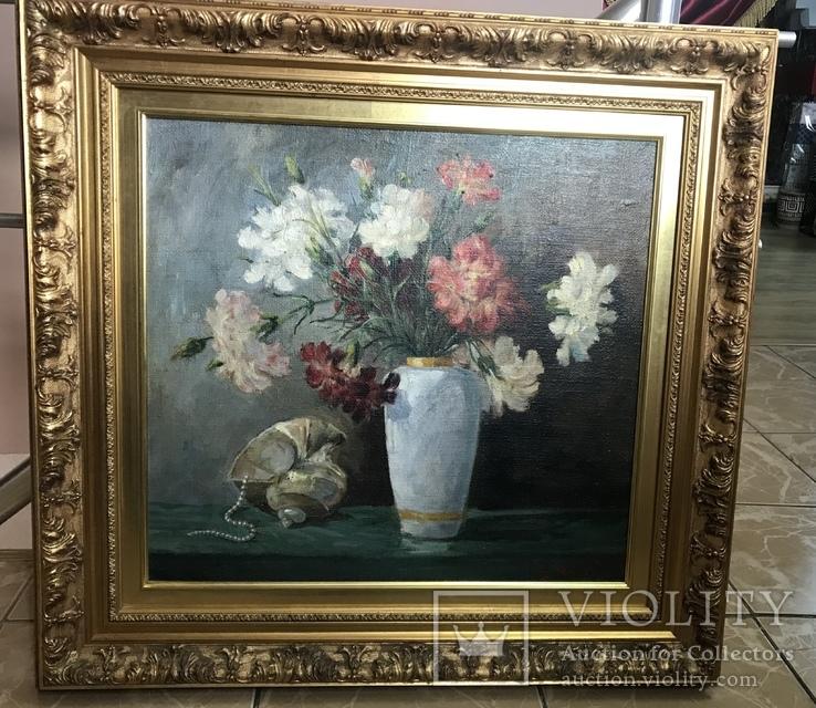 Картина маслом Натюрморт В. Крылов (50х50), фото №2